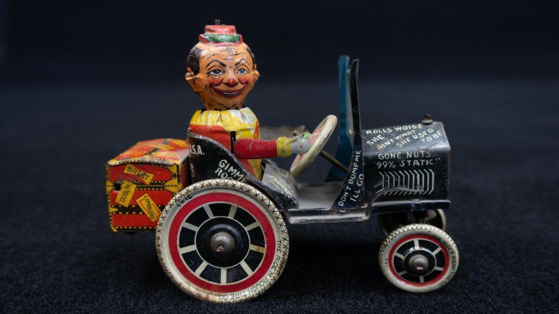 Vintage Marx Rough Rider Tin Wind Up Toy Car - 4