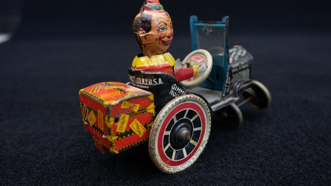 Vintage Marx Rough Rider Tin Wind Up Toy Car - 6