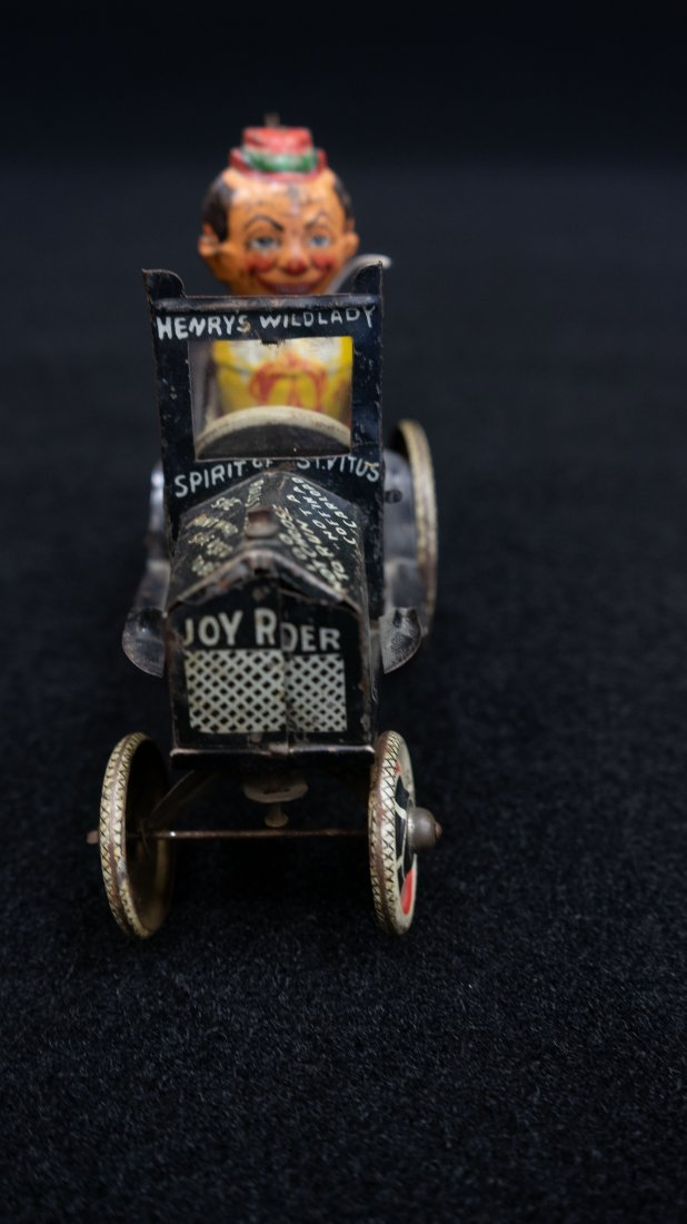 Vintage Marx Rough Rider Tin Wind Up Toy Car - 8