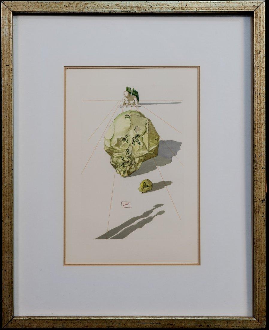Salvador Dali Devine Comedy Wood Engraving