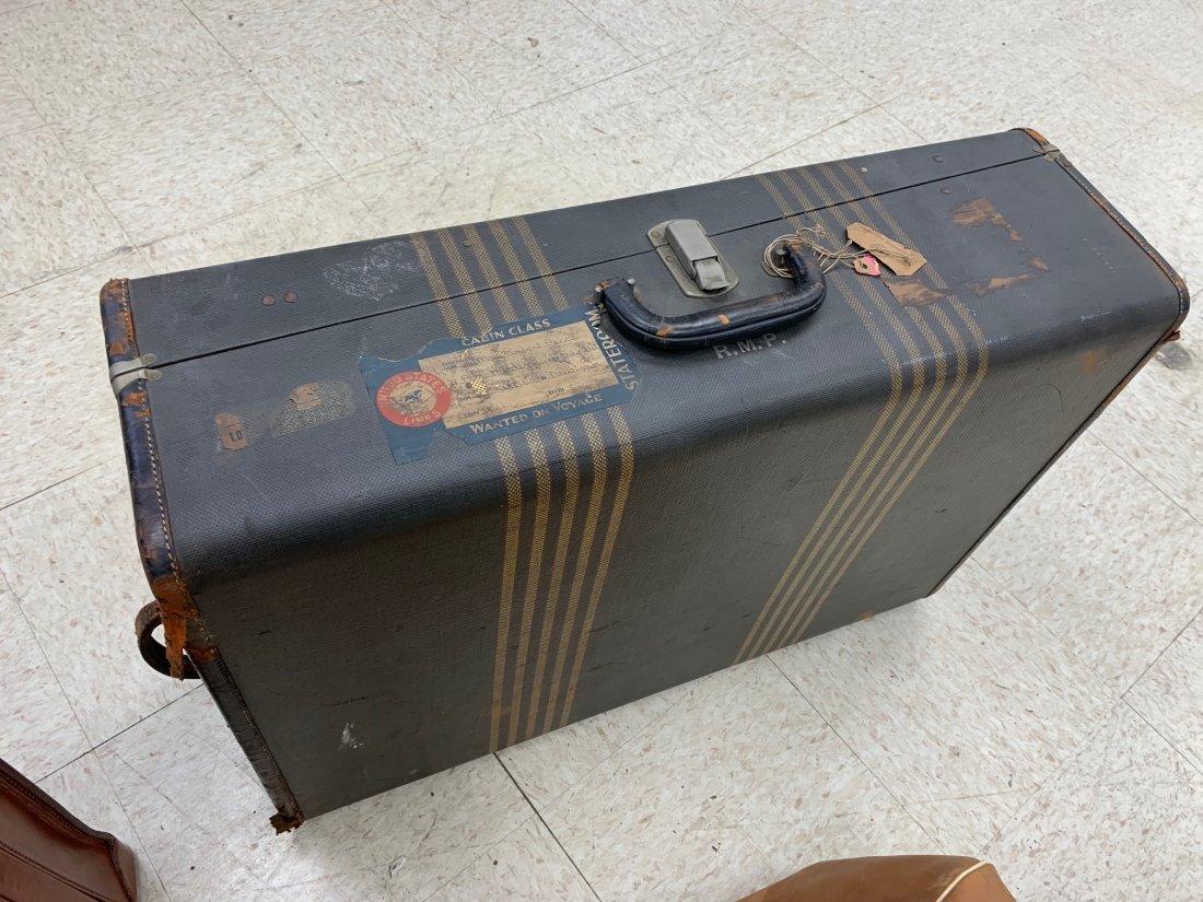 4 Antique Luggage Suitcases - 2