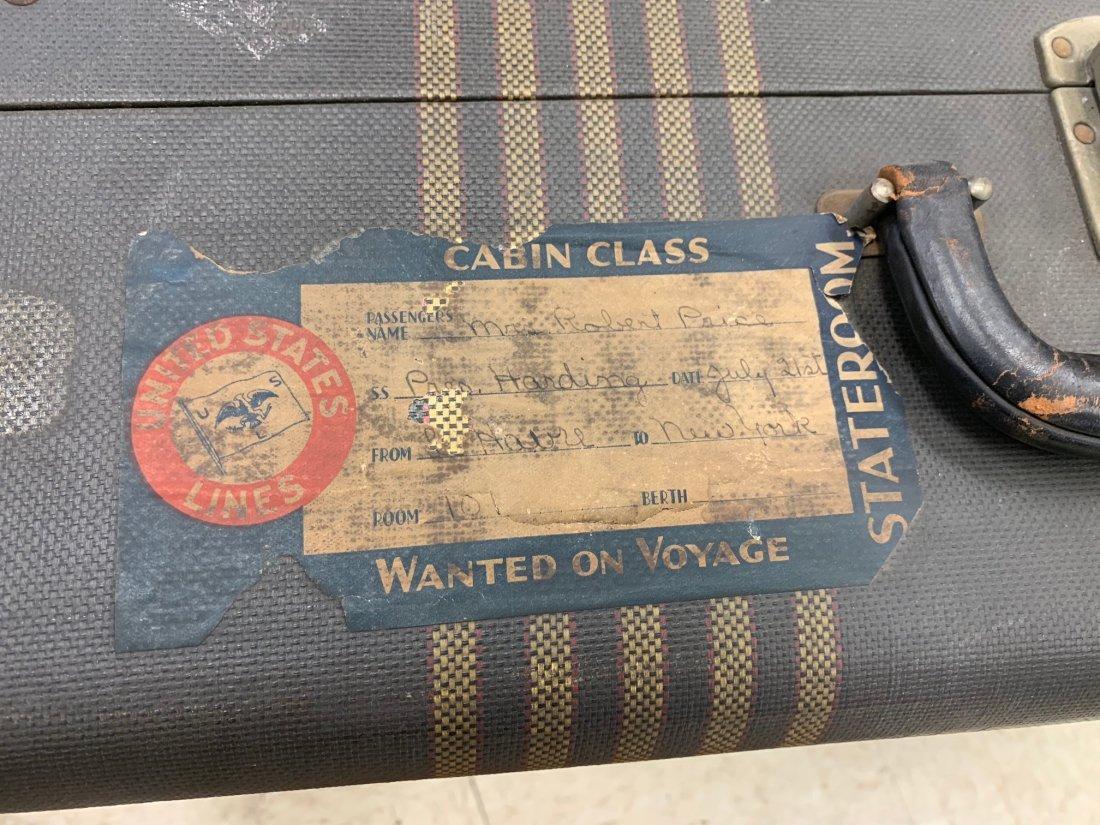 4 Antique Luggage Suitcases - 3
