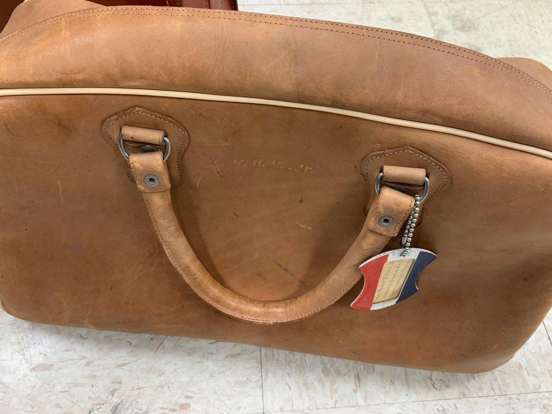 4 Antique Luggage Suitcases - 5