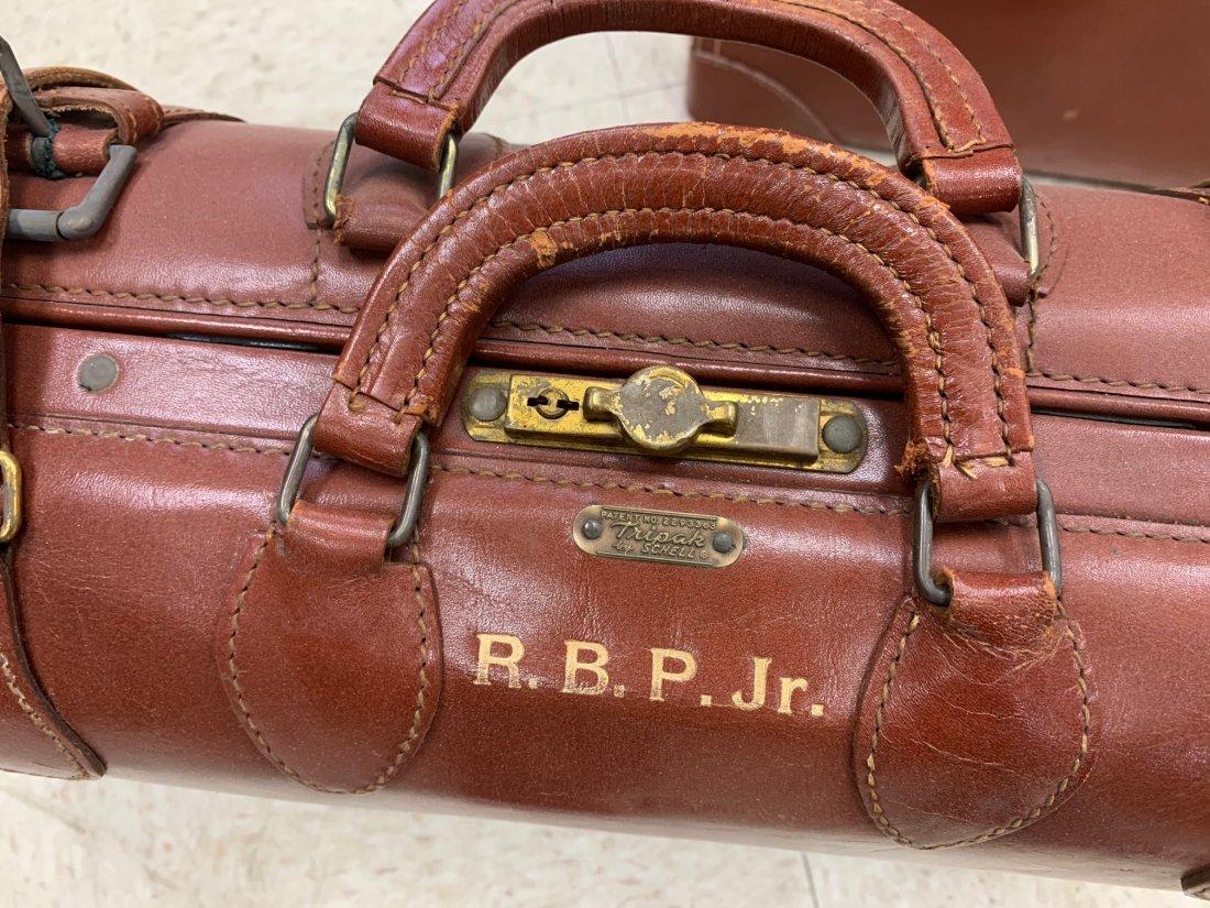 4 Antique Luggage Suitcases - 7
