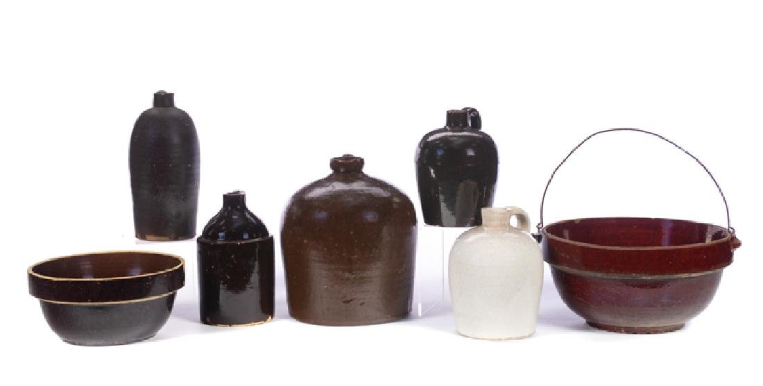 7 Pieces of Stoneware Jugs and Bowls