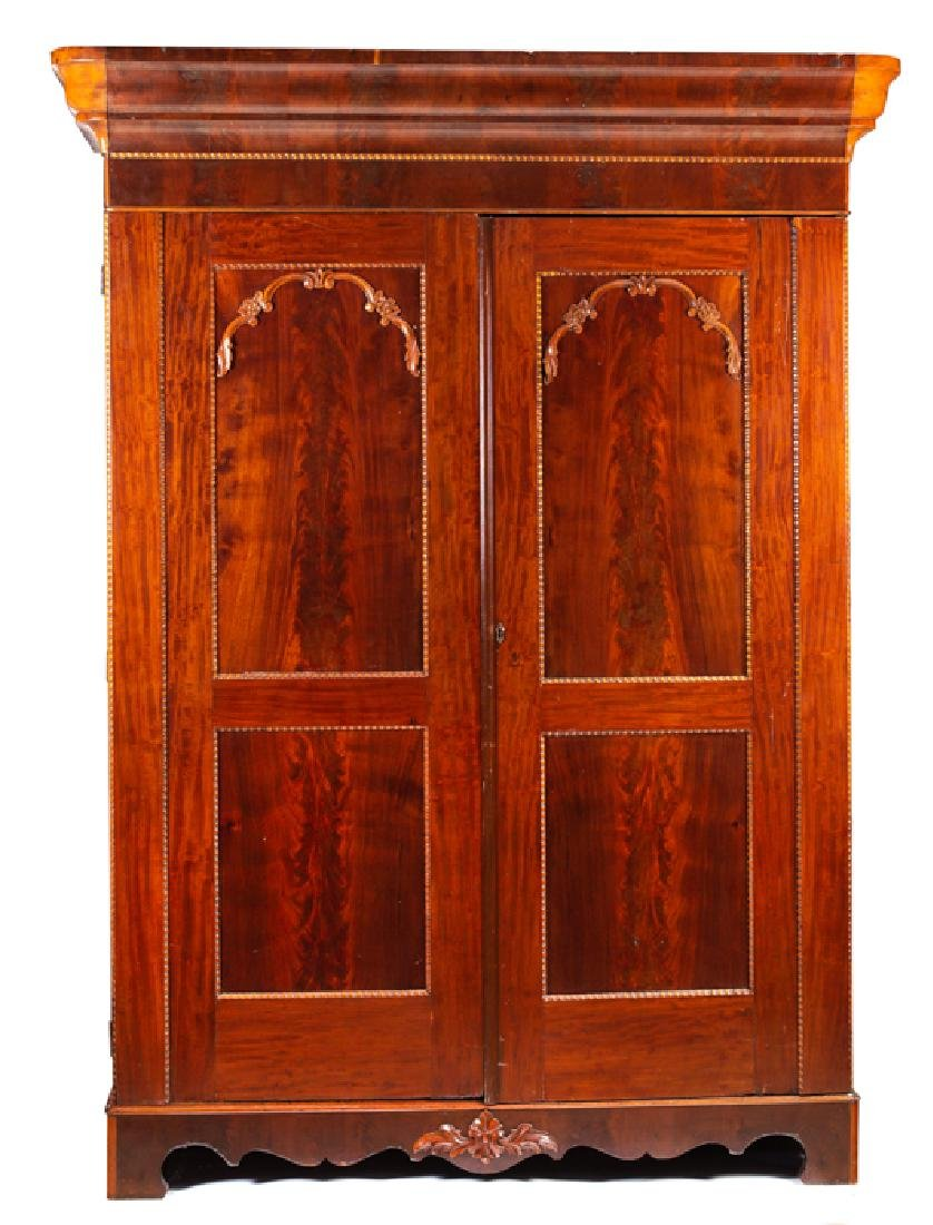 Mahogany Gothic Victorian Knock Down Wardrobe