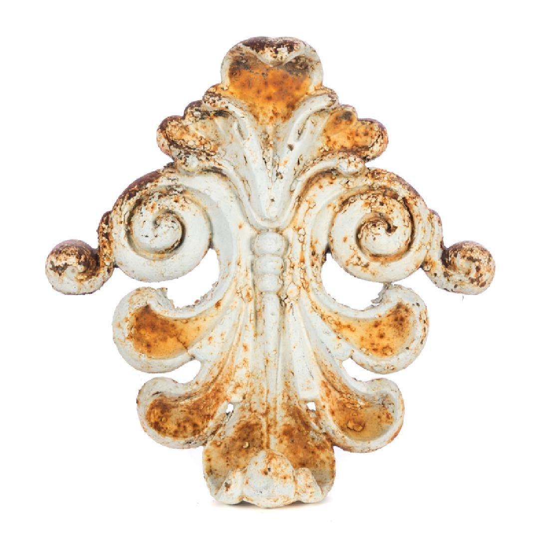 Victorian Cast Iron Architectural Fleur de Lis