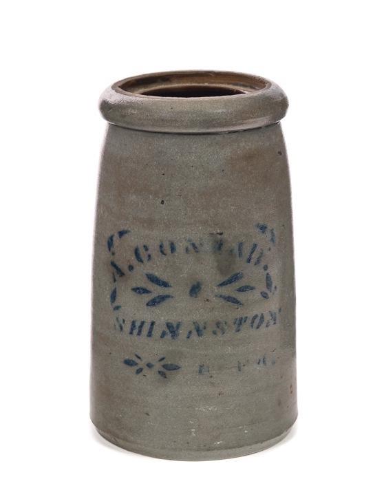 A Conrad Blue Decorated Stoneware Crock