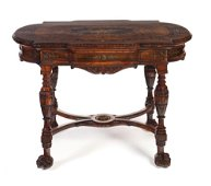 Herter Brothers Marquetry Inlaid Parlor Table