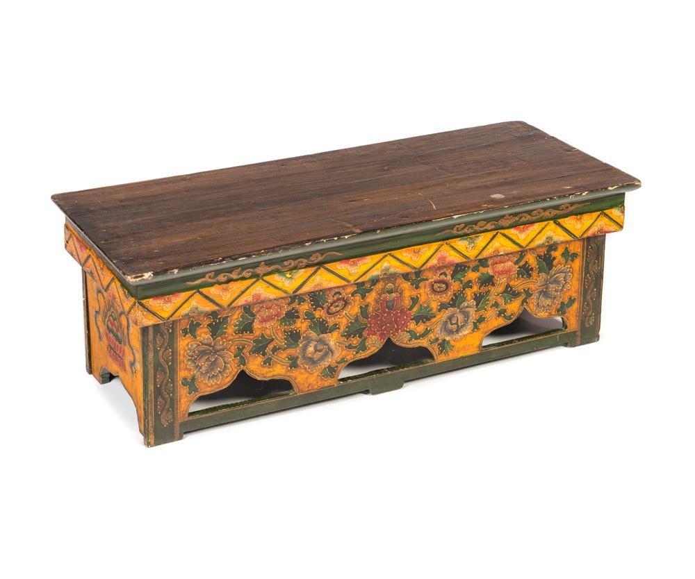 Tibetan Wooden Bench