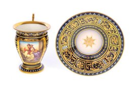 Royal Vienna Cup Saucer Scene