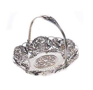 Theodore B. Starr Sterling Silver Cupid Basket
