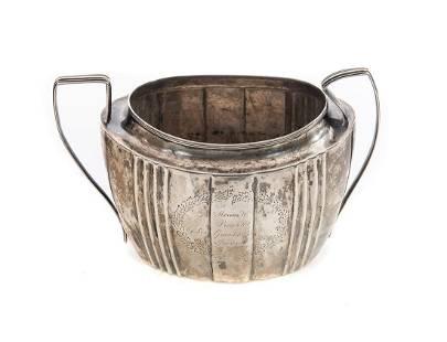 1806 Evans Coin Silver Presentation Sugar Bowl