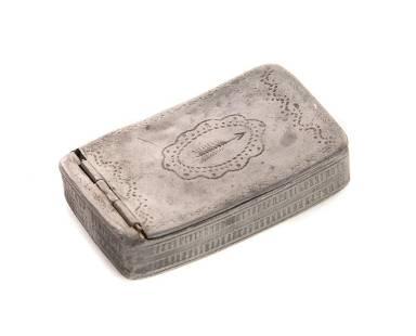 18th Century Pewter Snuff Box