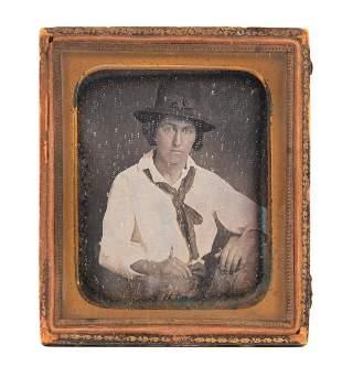 1849 Gold Rush Prospector Samuel Hammet Daguerreotype