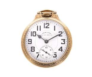Hamilton 992B 21j Railroad Pocket Watch