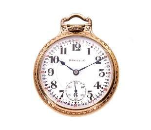 Hamilton 992 21j Railroad Pocket Watch