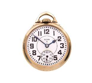Elgin 21j BW RAYMOND Railroad Pocket Watch