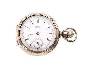 Waltham A.T. & CO. 18S Sterling Pocket Watch