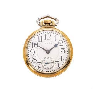 Waltham Crescent Street 21j Railroad Pocket Watch