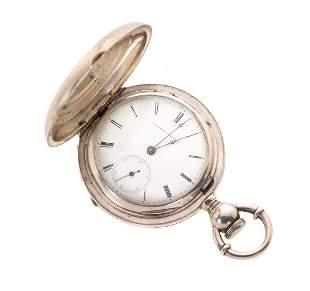 Elgin H.Z. Culver 1871 Coin Silver Pocket Watch
