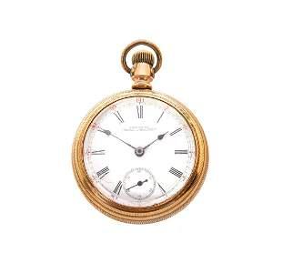 Waltham 18s Engraved Case Pocket Watch