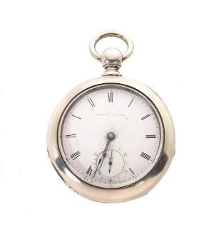Waltham PS Bartlett Coin Silver Pocket Watch