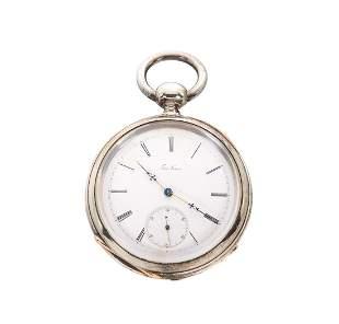 Federic Nicoud Chaux De-Fonds 1865 Silver Pocket Watch