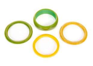 4 Bakelite Bracelets