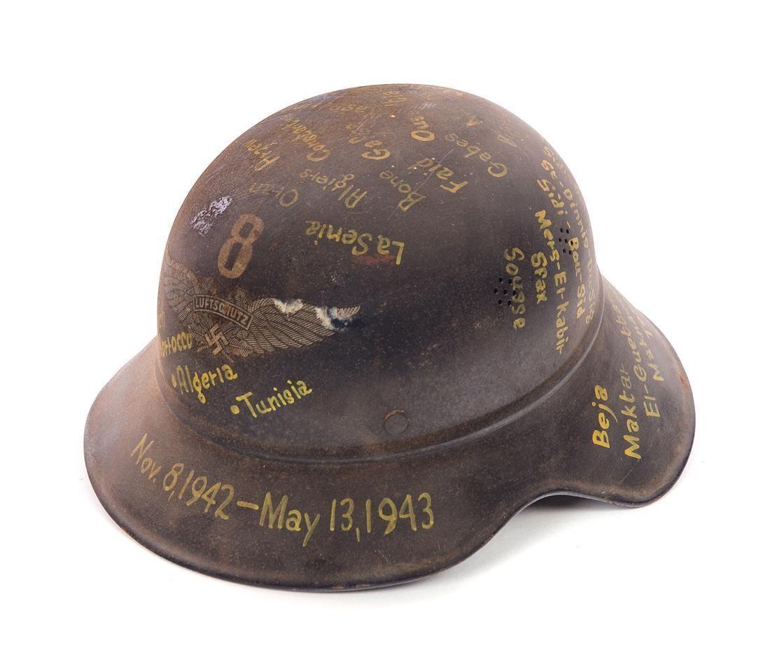 Decorated WWII German Helmet