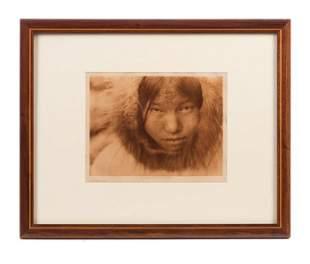 Native American Diomede Girl Photograph 192...