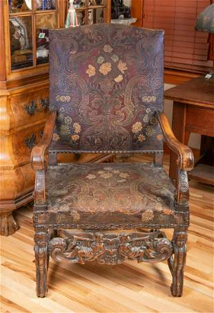 18th Century Tooled Leather Chair