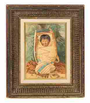 Grace Carpenter Hudson Watercolor Native American