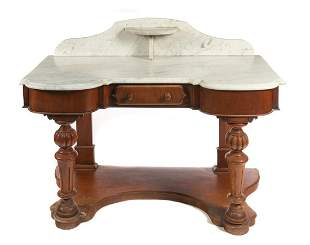 Early Victorian Marble Top Washstand