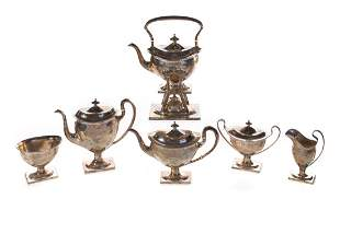 Bailey Banks Biddle Sterling Silver Tea Set