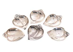 6 Sterling Silver Tiffany & Co Butter Pats