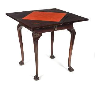 Chippendale Game Card Table