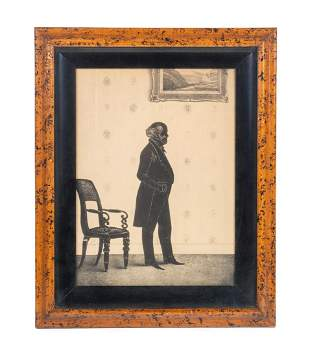 Martin Van Buren Silhouette Lithograph