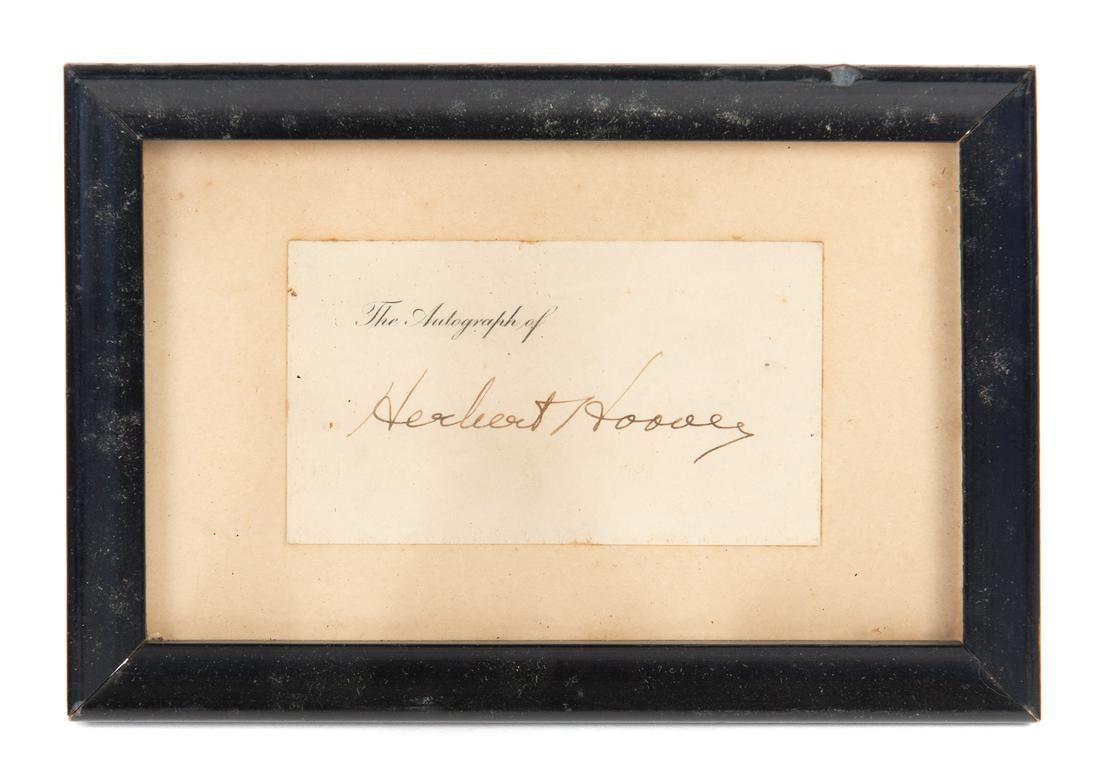 Herbert Hoover Autograph