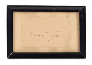 Mark Twain Autograph