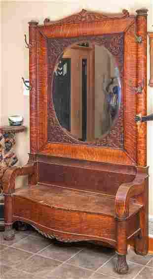 Quartersaewn Oak Hall Seat