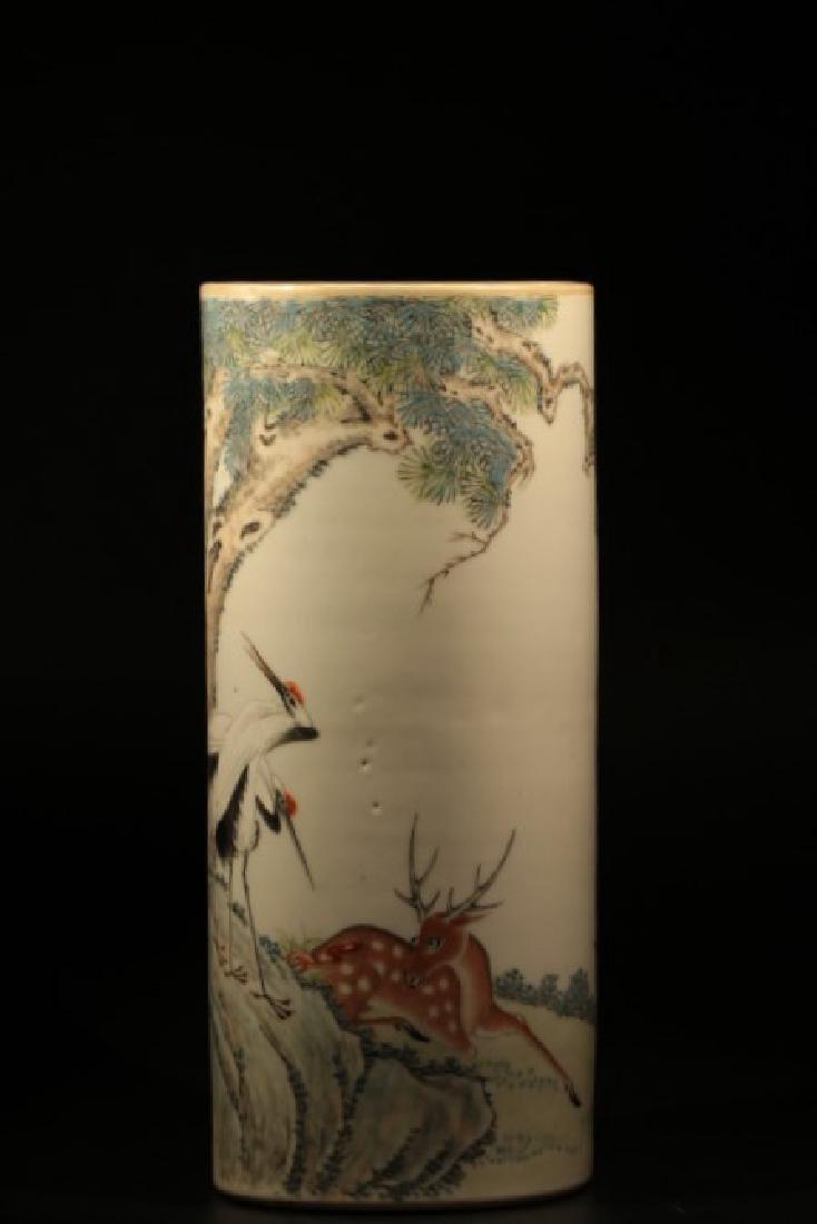 Chinese Famille Rose Porcelain Brush , Mark