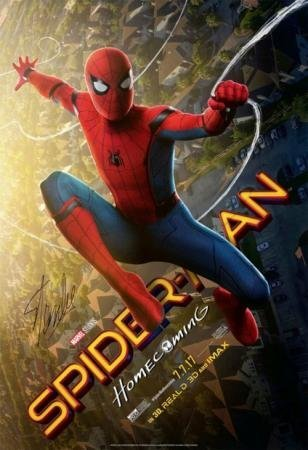 Stan Lee Signed Spider-Man Homecoming Poster
