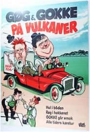 Laurel & Hardy Gog Og Gokke, PA Velkener, Color Towed