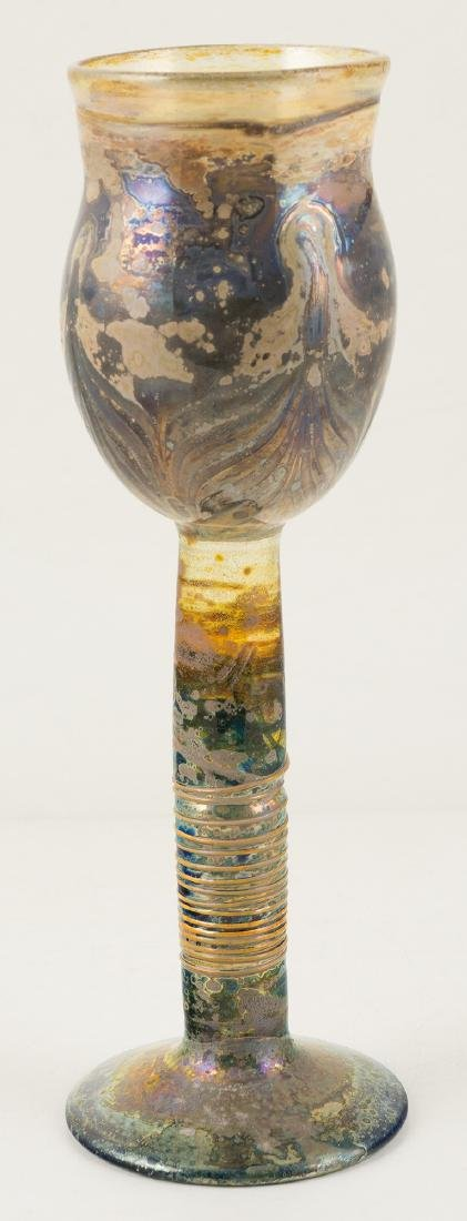 Blown glass cup. Murano. Italy. Circa 1950.