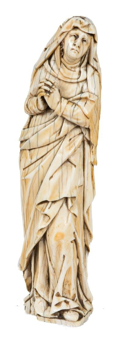 """""""Our Lady of Calvary"""" Ivory sculpture.  16th"""
