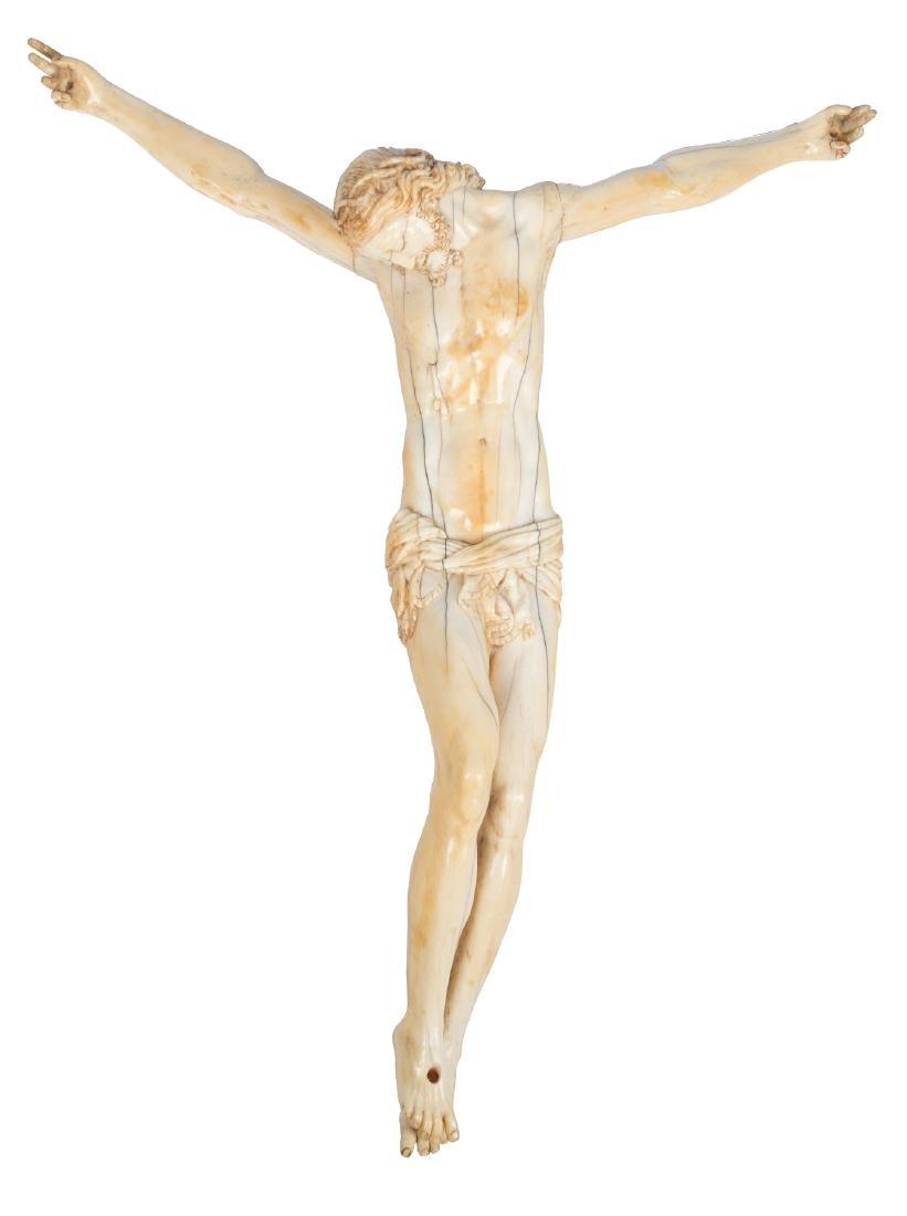 """Christ"" Ivory sculpture.  Italian School.  16th centur"
