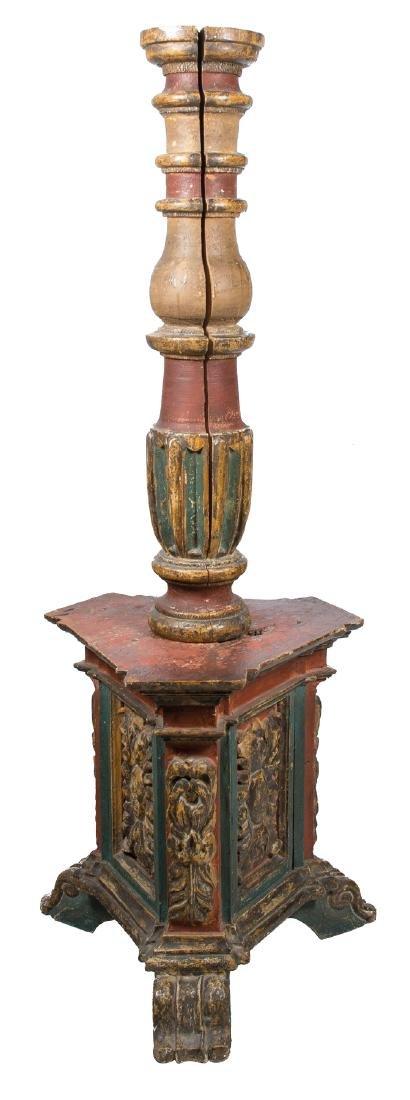 Large carved, marbled and polychromed altar