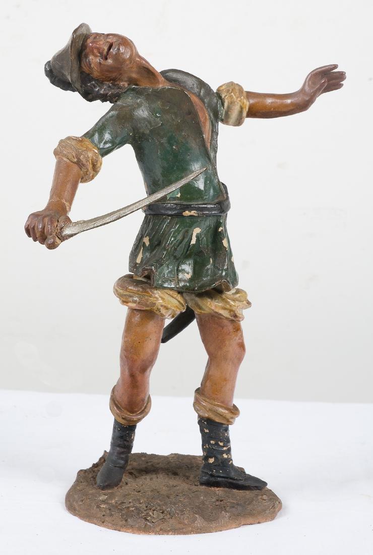 """Sayón"" Polychromed terracotta sculpture.  17th century"
