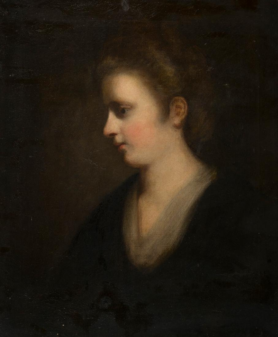 "Late 18th century English School. ""Portrait of a woman"""